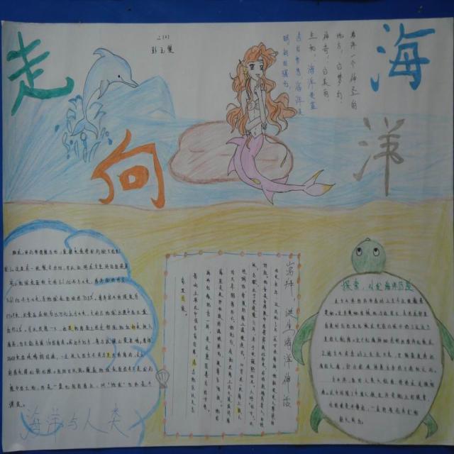 走向海洋手抄报-书香中国-书香中国