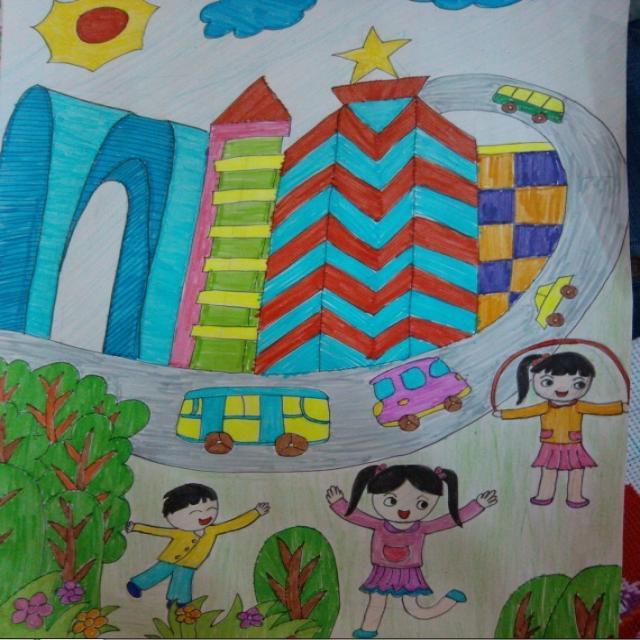 苏州园区儿童画分享展示