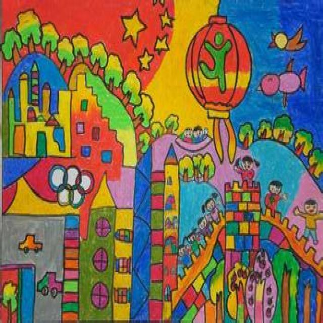 图画/画一幅家乡美景的画/二年级的美术我的家乡/关于美丽的家乡画图片