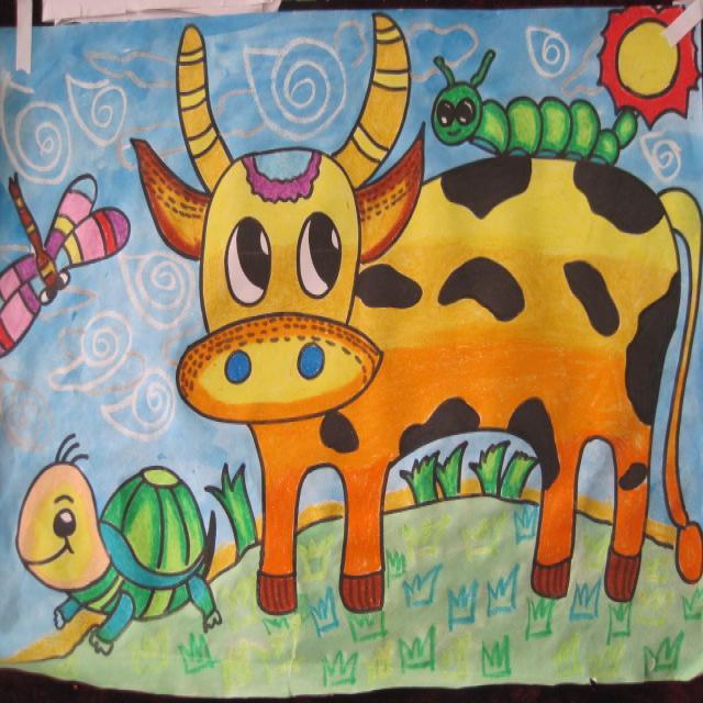 儿童画小动物