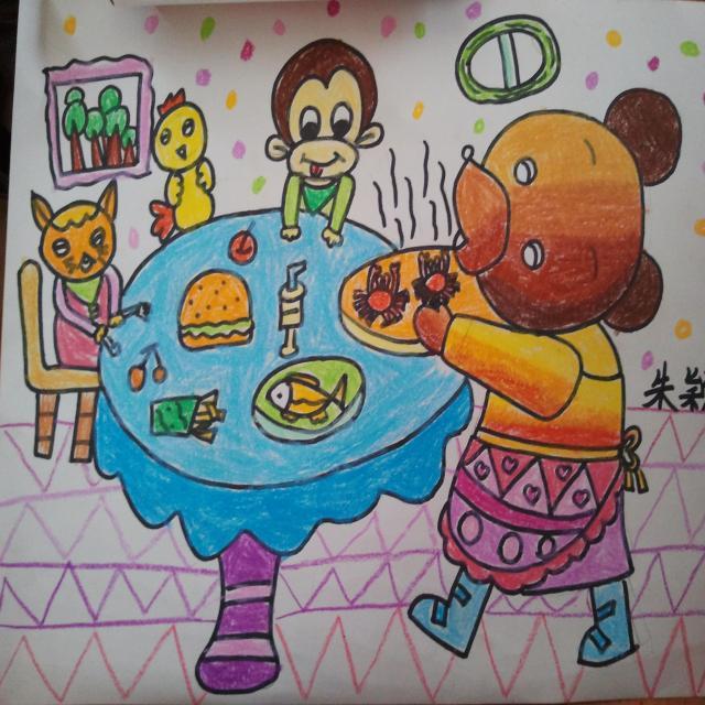 儿童小熊画简单又可爱