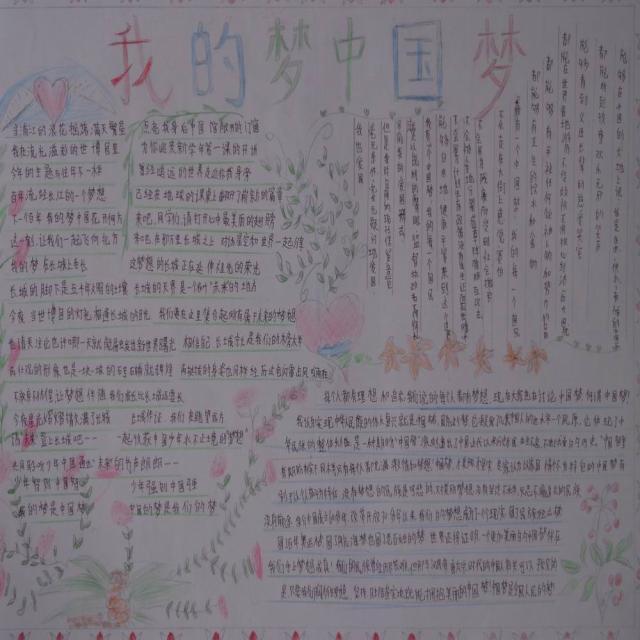 手抄报分享 家乡情中国梦手抄报  我的中国梦8k纸手抄报 我的中图片